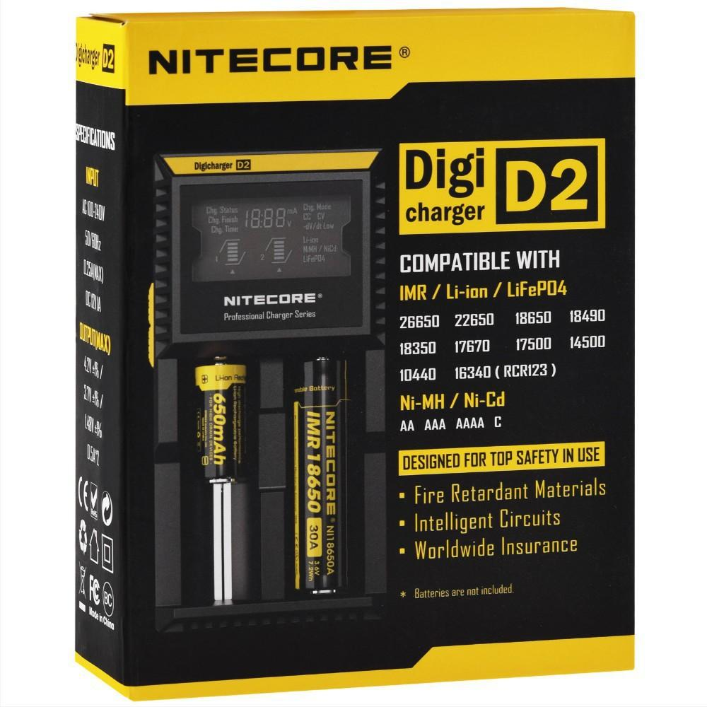 Hottest Selling Nitecore D2 Digicharger Lcd Display Battery Charger Circuit Design Original Eu Us Au Uk Plug Optional Cigarette