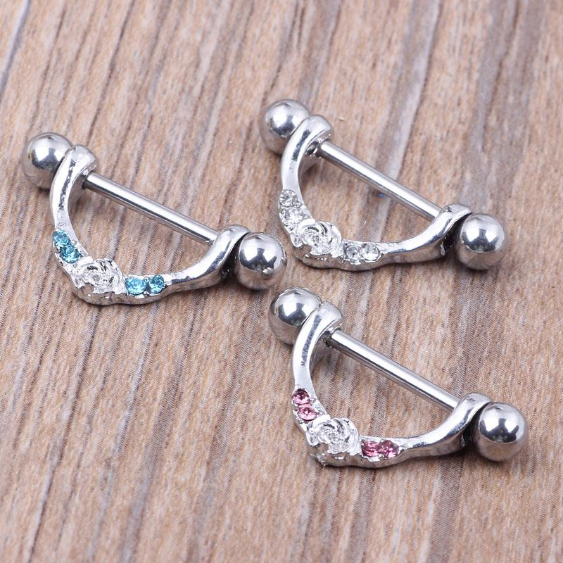 Nipple ring body piercing fashion jewelry 14G 316L surgical steel bar Nickel-free NEW design mix for woman