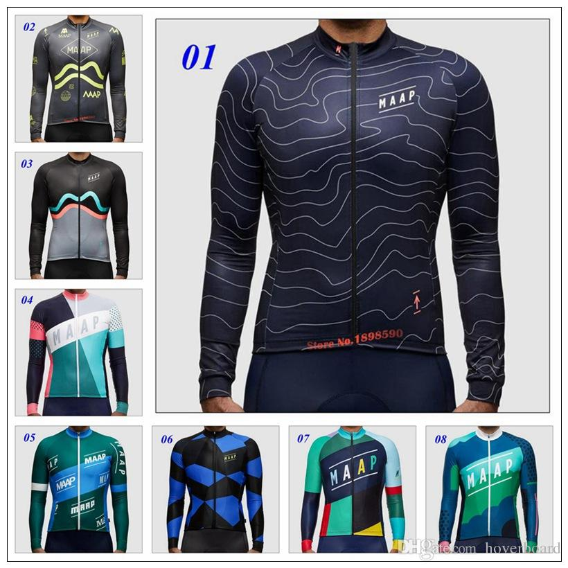 Newest 2016 MAAP Cycling Team Long Sleeves Cycling Jersey Winter Thermal  Fleece Ropa Ciclismo Mountain Bicycle Compression Bike Clothing Bike Pants  Cycling ... ca716f68b