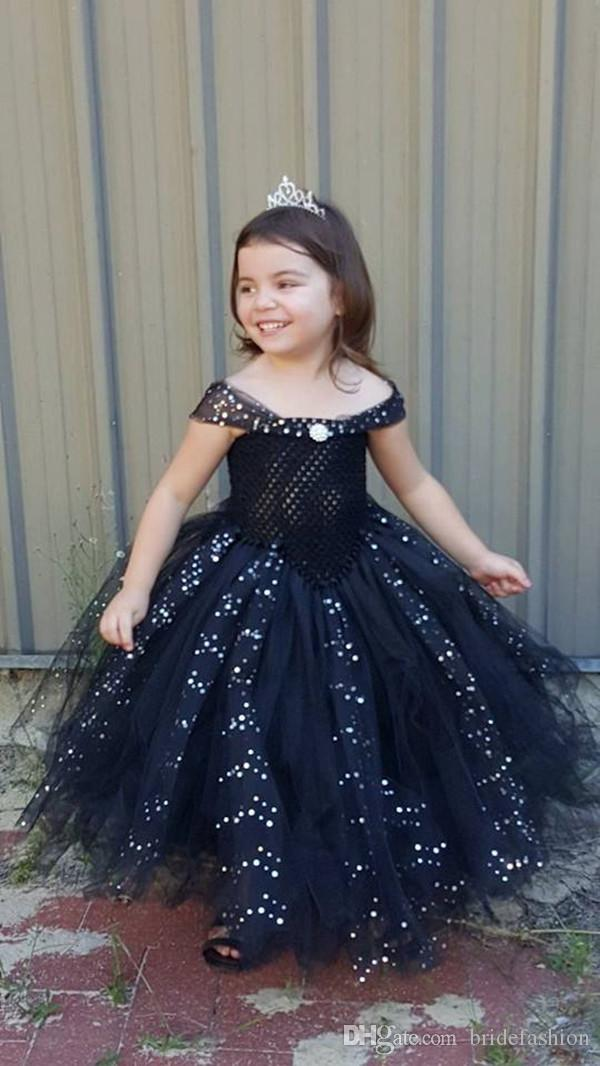Black Off Shoulder Ankle Length Beaded Ball Gown Glitz