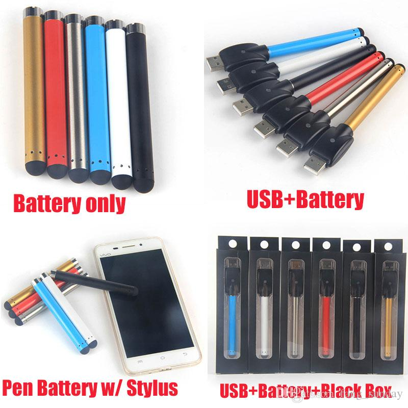 Slim 510 Thread Battery Buttonless Vape Pen Automatic O Pen Stylus 280mAh Bud Touch Universal con cargador USB inalámbrico EGO