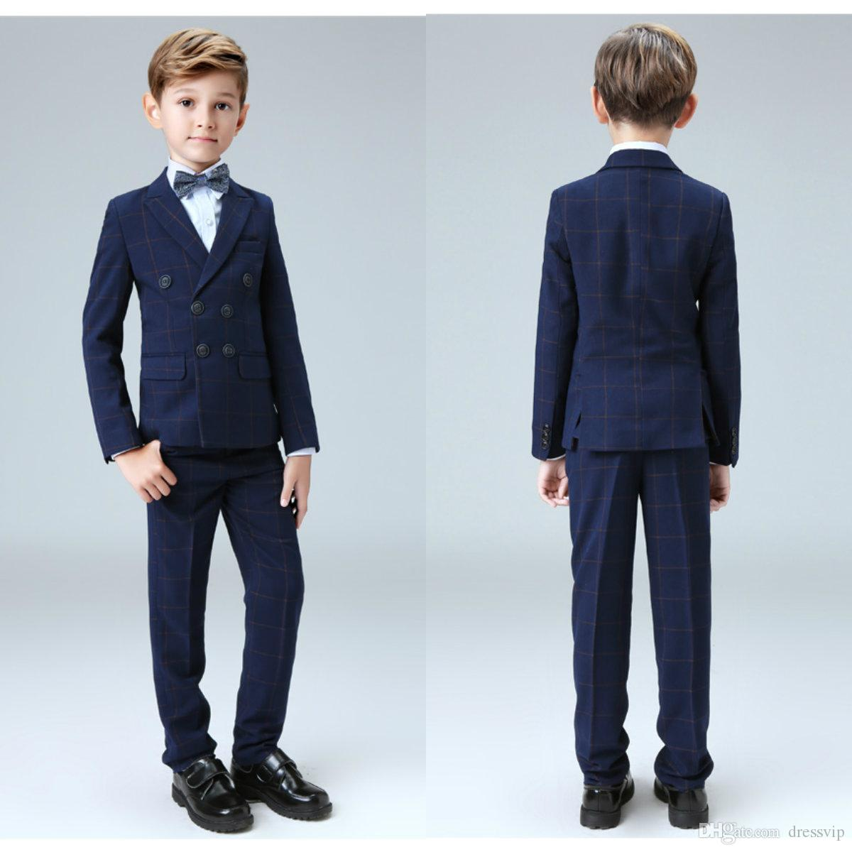 Five Pieces Kids Gowns For Wedding Suits New Arrival Peaked Lapel ...