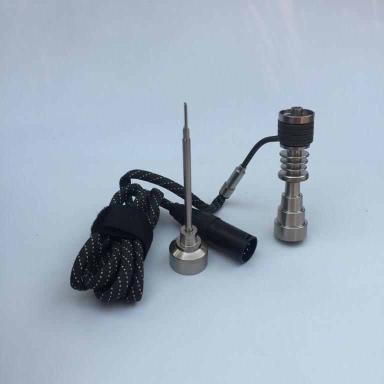 Vente en gros enail dab kits de chauffage de bobine 1 à 6 bobines de titane Domeles avec capuchons en carbure de lumière vapes greenlight enail pour huile ou cire