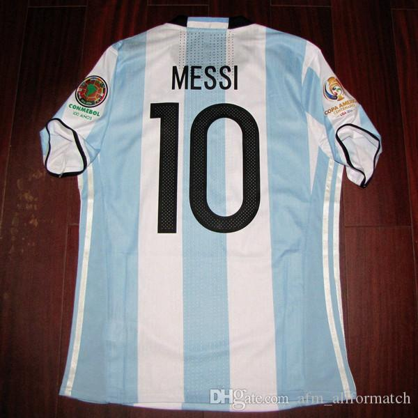RUGBY Copa America 2016 final Match Worn Player Issue Messi Aguero Di Maria Rugby Football Custom Name Number Patches Sponsor