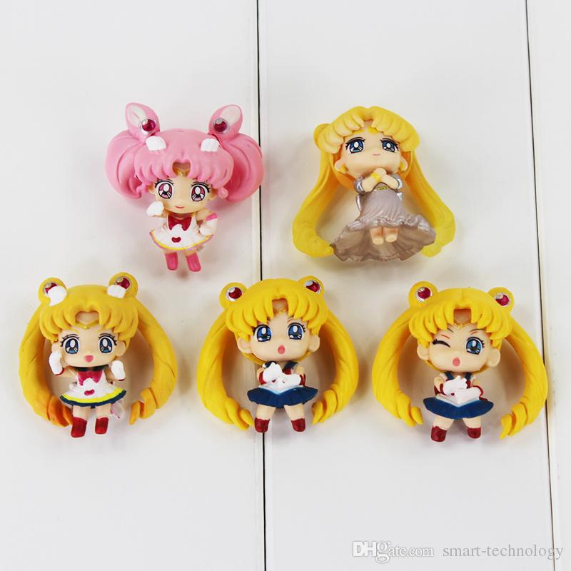 Cute Anime Sailor Moon PVC Action Figure Collectable Model Toy for girl's birthday gift 4.5cm
