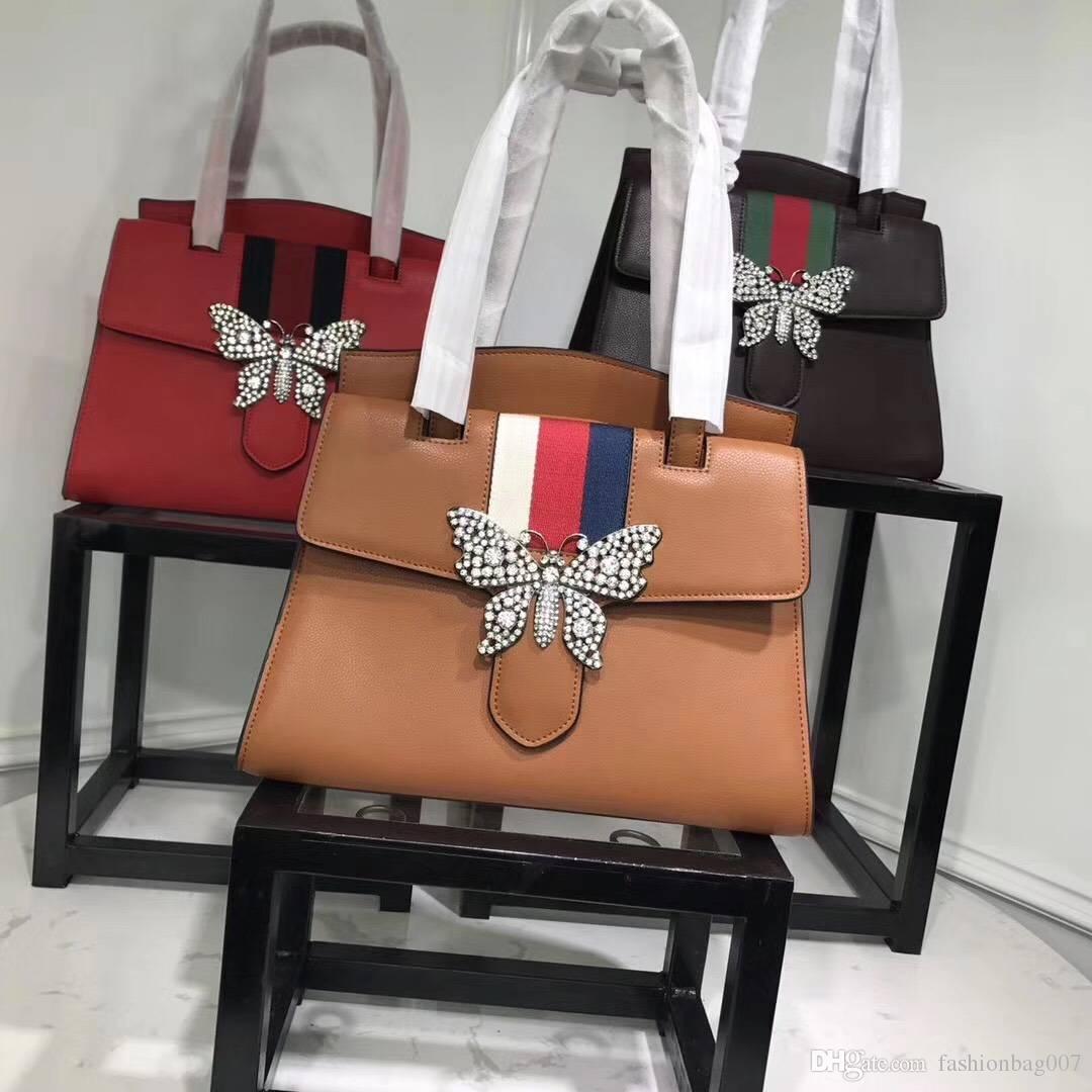 284087baff Winter New Female Bag Handbag Butterfly Decorative Interpretation Of  Fashion Beautiful Fashion Design Master High End Design Black Leather  Handbags Cute ...