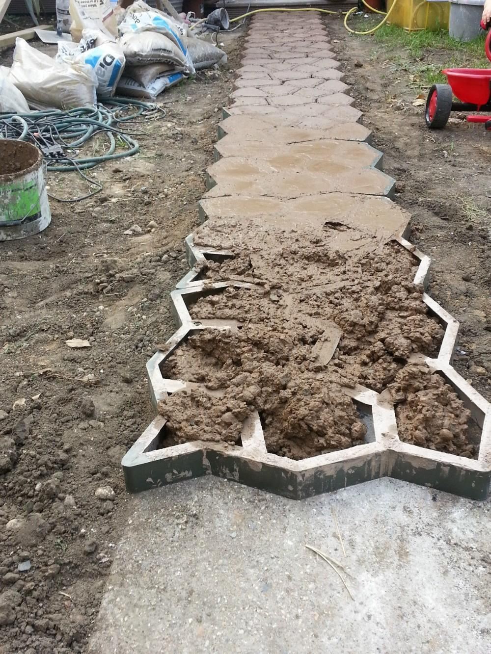 2017 diy stone pavement mold for making pathways for your garden