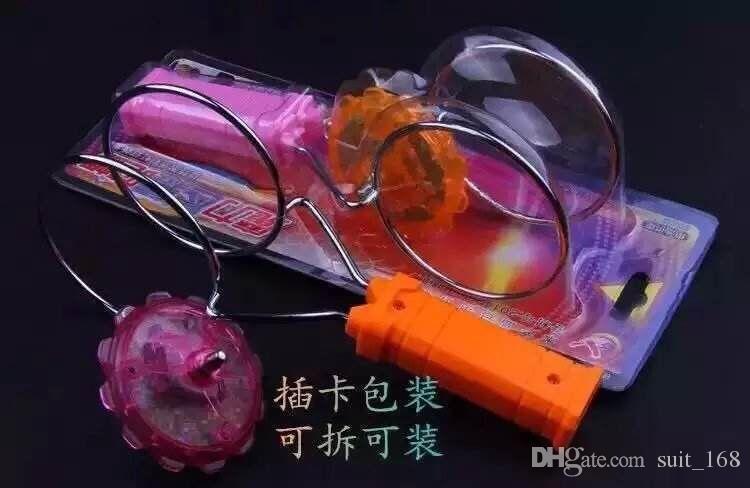 Livraison gratuite whilesaMagic magie filature gyro magnétique aimant rotatif piste magnétique émettant de la lumière brillante coloré jouet gyroscope