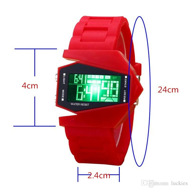 Männer Sportuhr Bunte Digital LED Uhr Pilot Aviator Military Armbanduhr Männliche Uhr Mode LED Uhr Relogio masculino