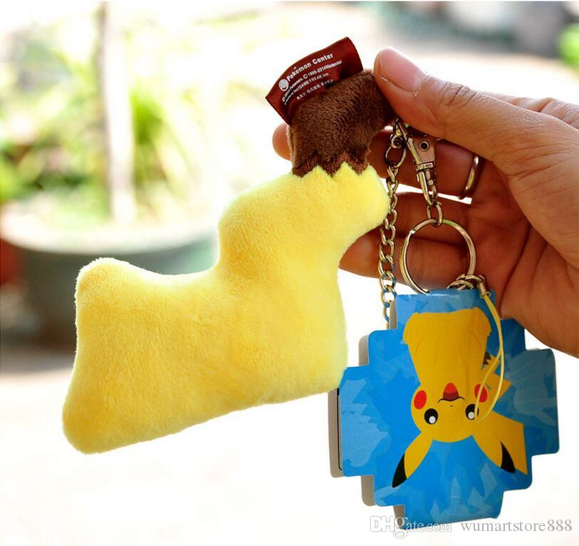 New Poke Pikachu Tail Pendant Bag Mobile Cell Phone Key Rings Keychain Children Adult Cartoon Costume Cosplay Plush Doll Toys Gifts
