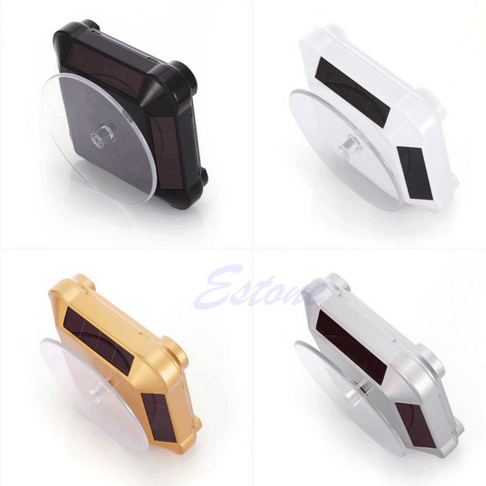 Solar Showcase 360 Turntable Rotating Jewelry Watch Phone Ring Display Stand