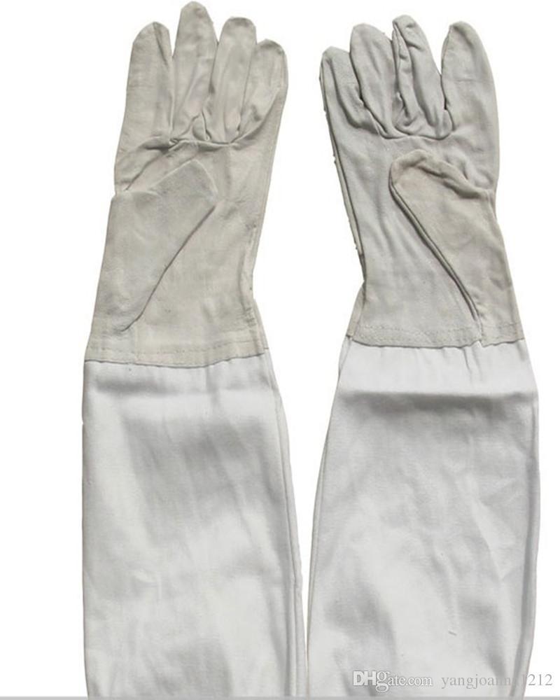 Herramientas de mantenimiento de la abeja jardín abejas y guantes de piel de oveja guantes de jardinería de alta calidad tipo de protección