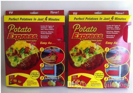 Sac de cuisine pour le dîner de Noël Sac de cuisine rouge lavable au four à micro-ondes Cuisson rapide Cuisson Outils de cuisson avec des boîtes de détail
