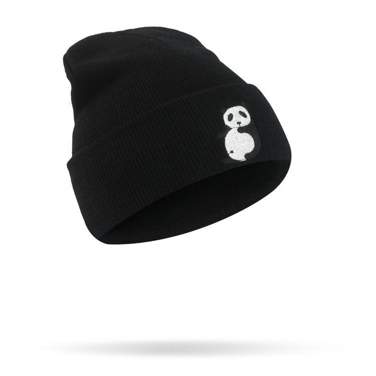 2017 انفجار جميل صورة الدب القبعات أزياء الرجال والنساء الصوف قبعة الهيب هوب التطريز الإبداعي محبوك قبعة