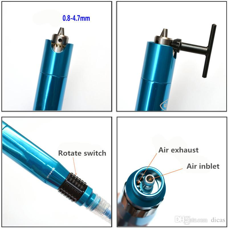 Bloc de mandrin droit Outil de meulage pneumatique stylo de meulage pneumatique Type de mandrin Outil de gravure pneumatique Polissage