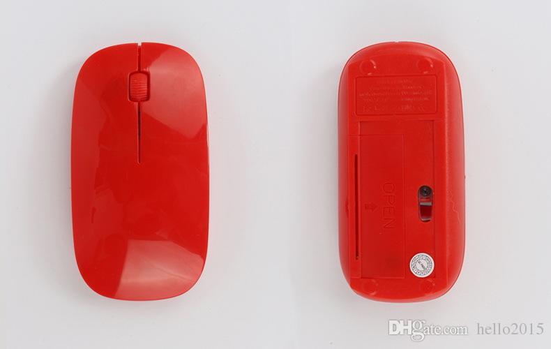 رقيقة جدا USB البصرية ماوس لاسلكية 2.4G استقبال سوبر سليم ماوس للكمبيوتر المحمول الكمبيوتر المكتبي 5 كاندي اللون