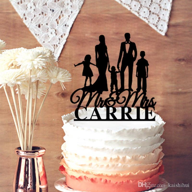 Personalized Wedding Cake Topper Customized Your Name Script Mrmrs