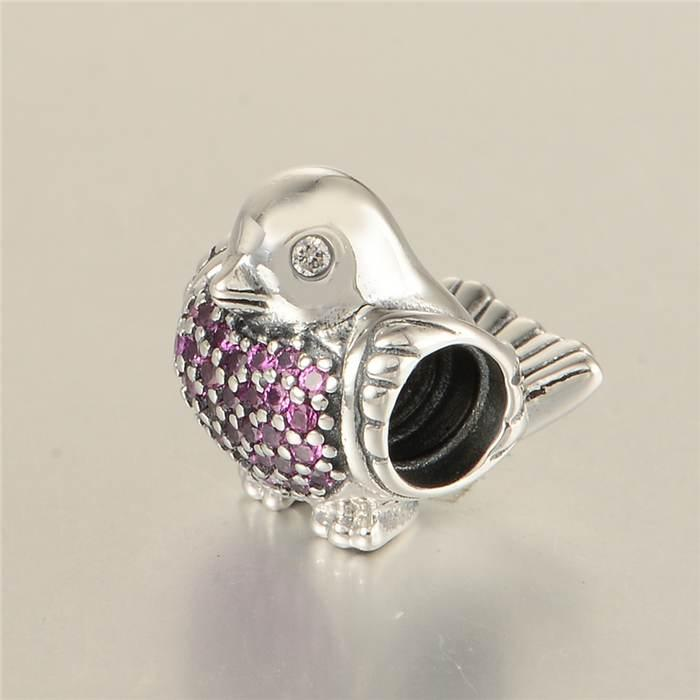 146e23bff Compre 2016 Clear Cz Robin Charm Beads Fit Pandora Pulseira Original 925  Sterling Silver Robin Bird Animal Bead Diy Jóias Lw589 De Wholesalecharms,  ...