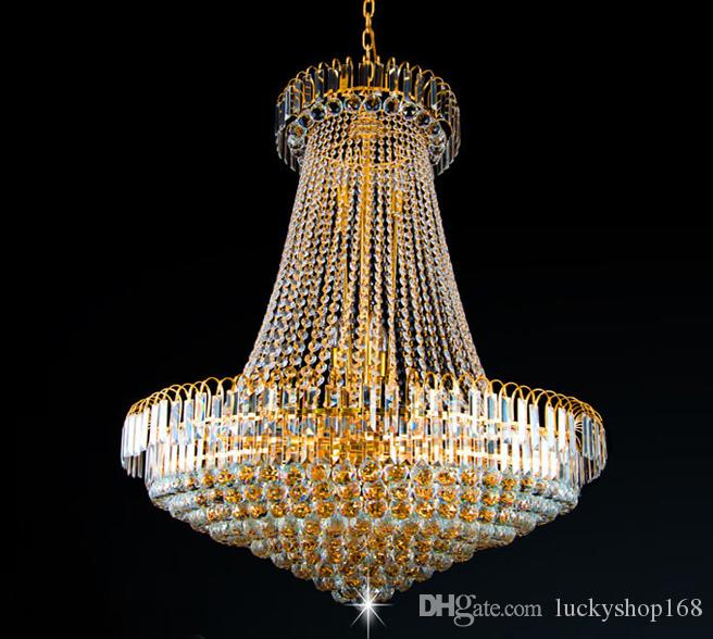 New Royal Empire Golden Crystal Chandelier Light French Crystal ...