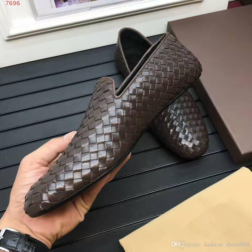 Moda, couro genuíno, sapatos de alta qualidade dos homens, calçados masculinos casuais, respirável, confortável, deslizamento, marrom 38-44 frete grátis