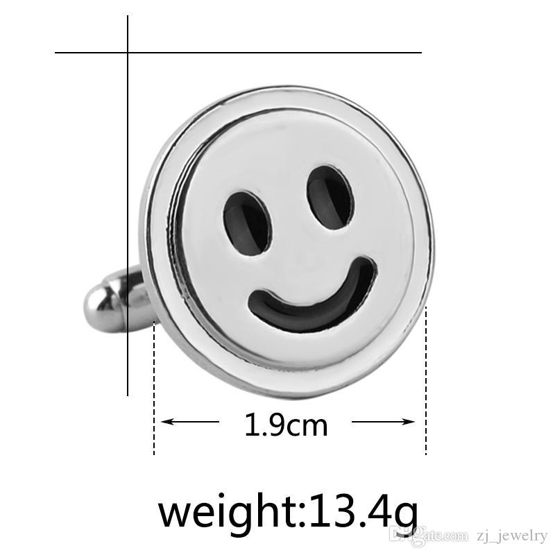 Smiley Symbol Boutons De Manchette En Argent Plaqué Smile Sign Boutons De Manchette Français Et Hommes Accessoires Bonheur Symbole De Mariage Bouton De Manchette 6