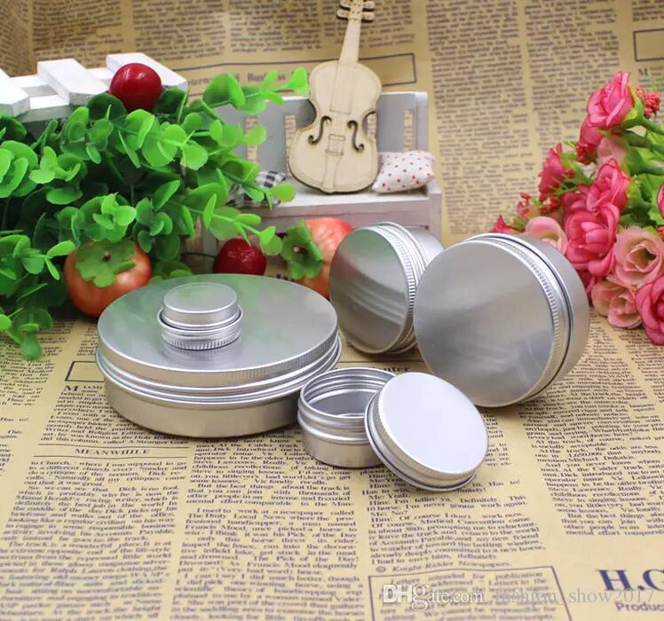 Aluminum Jar Lip Balm Pot Cosmetic Box Cream Emulsion Makeup Cream Container Empty Refillable for Cream Tins