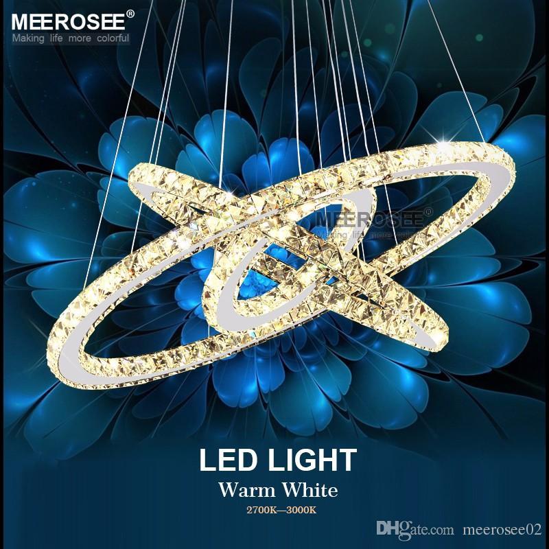 Großhandel Diamant Kristall Ring Led Kronleuchter Kristall Lampe ...