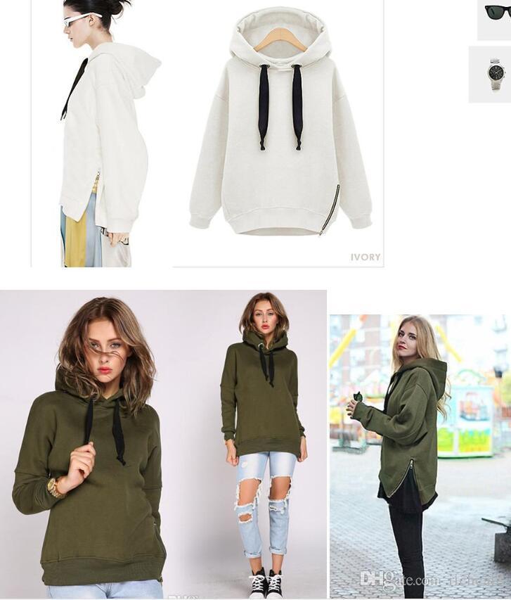 Verkauf billig Arm-Grün-neue Winter-Herbst-lose mit Kapuze Jacke Plus Size Thick Velvet Langarm Sweatshirt koreanische Art Hoodies OXL092901