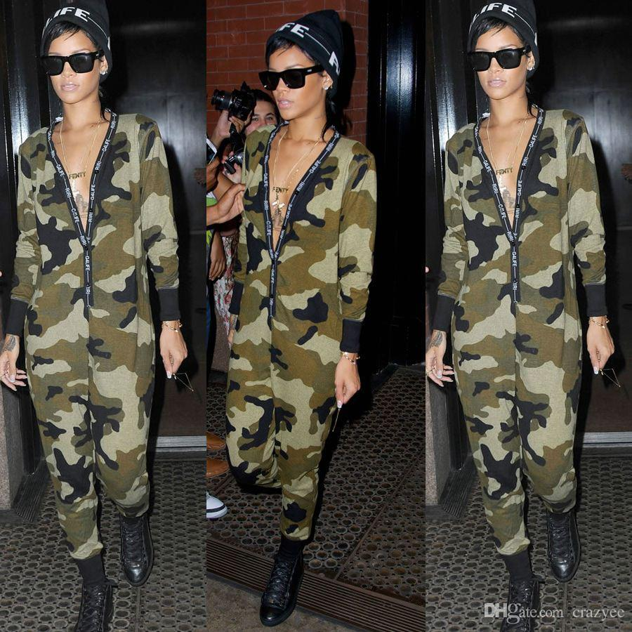 22dec534dd8 New 2016 HOT Spring Cotton Woman Sexy Camouflage Jumpsuits Wholesale ...