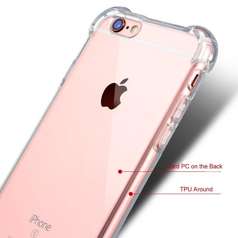 Para iPhone X a prueba de golpes de acrílico híbrido armadura parachoques suave TPU marco trasero PC Hard Case cubierta transparente para iPhone 9 XR XS Max SAMSUNG S9