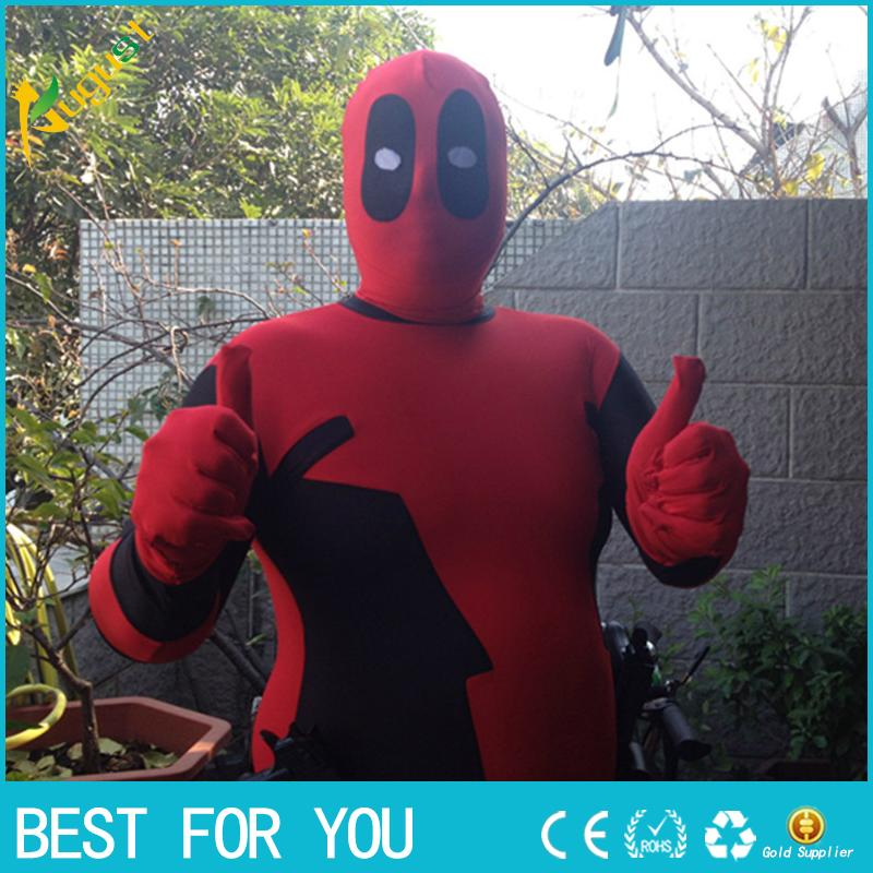 New hot S - XXL The X-men Cosplay Costumes Highly Elastic Tight Clothing Deadpool Costumes Movie Disfraces Elastic Clothes