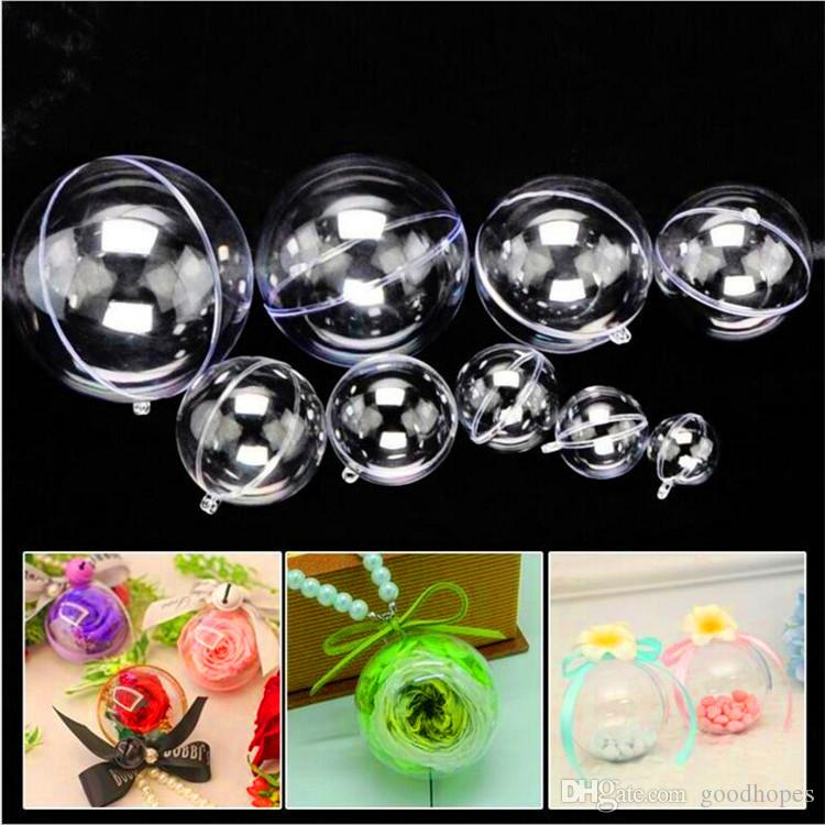 Christmas Decorations Openable Transparent Plastic Christmas Ball Baubles Christmas Tree Ornament New Year Party Wedding Gift Balls
