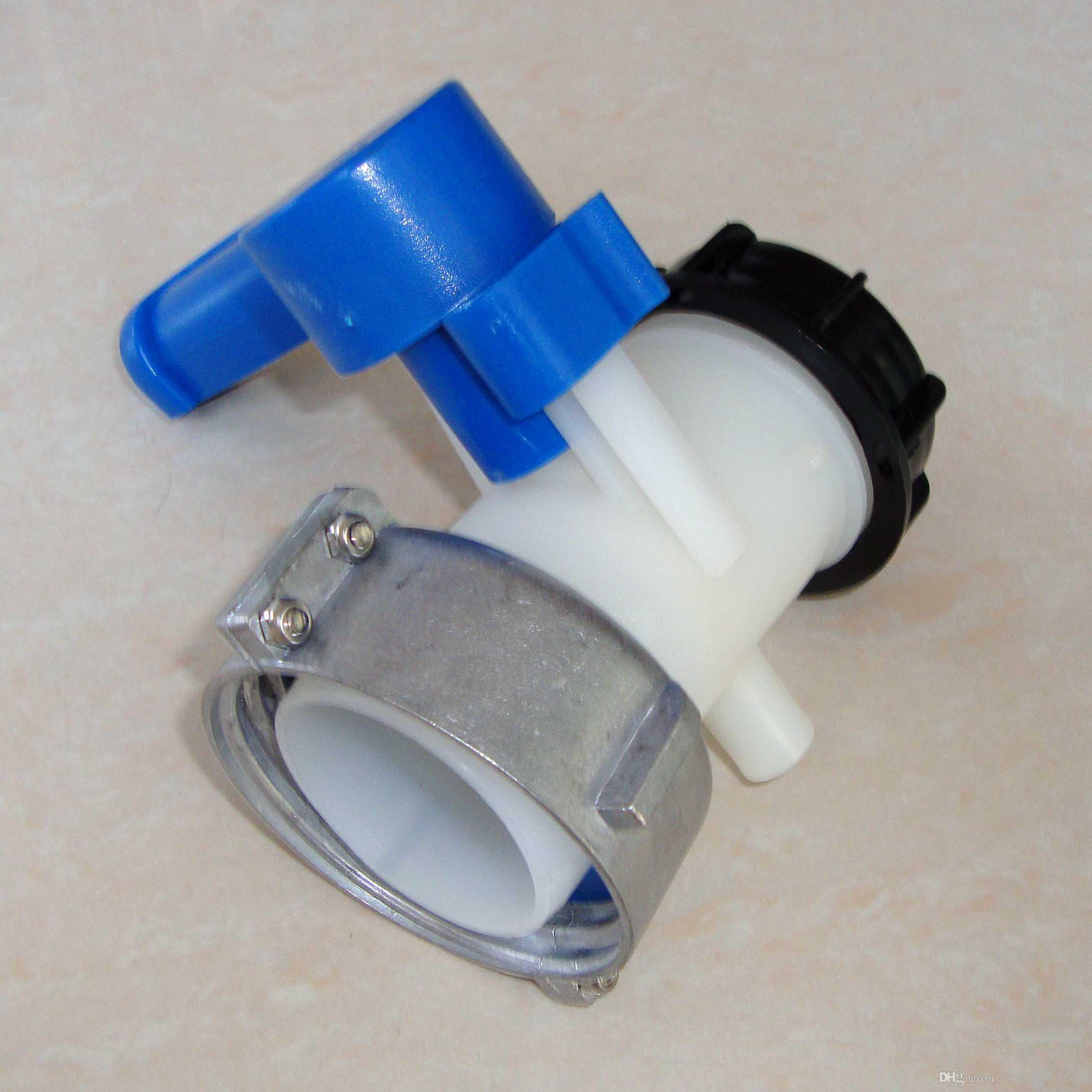 1000 litres IBC tank tote 2 (DN50) IBC tank butterfly valve 75mm tap mental  collar free shipping