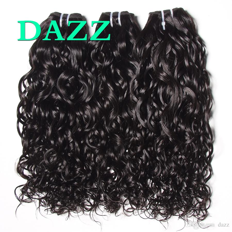 DAZZ Remy Human Hair Bundles Wholesale Water Wave Hair Extensions Wet And Wavy Brazilian Virgin Hair Weave Bundles Wefts Factory Supply