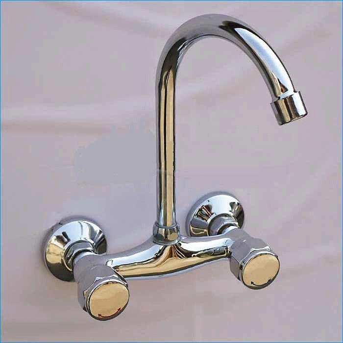 Dual Holder Wall Mount Kitchen Faucet Kitchen Brass Mixer