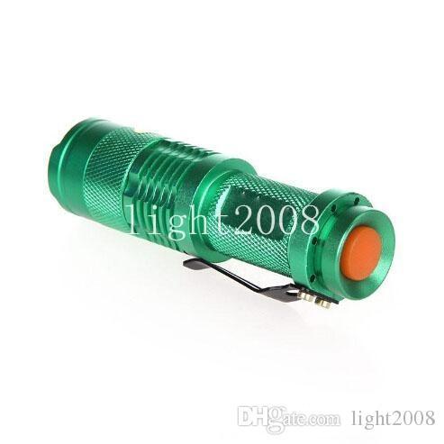 5 Cores Flash de Luz 7 W 300LM CREE Q5 LEVOU Camping Lanterna Tocha Foco Ajustável Zoom lanternas à prova d 'água Lâmpada