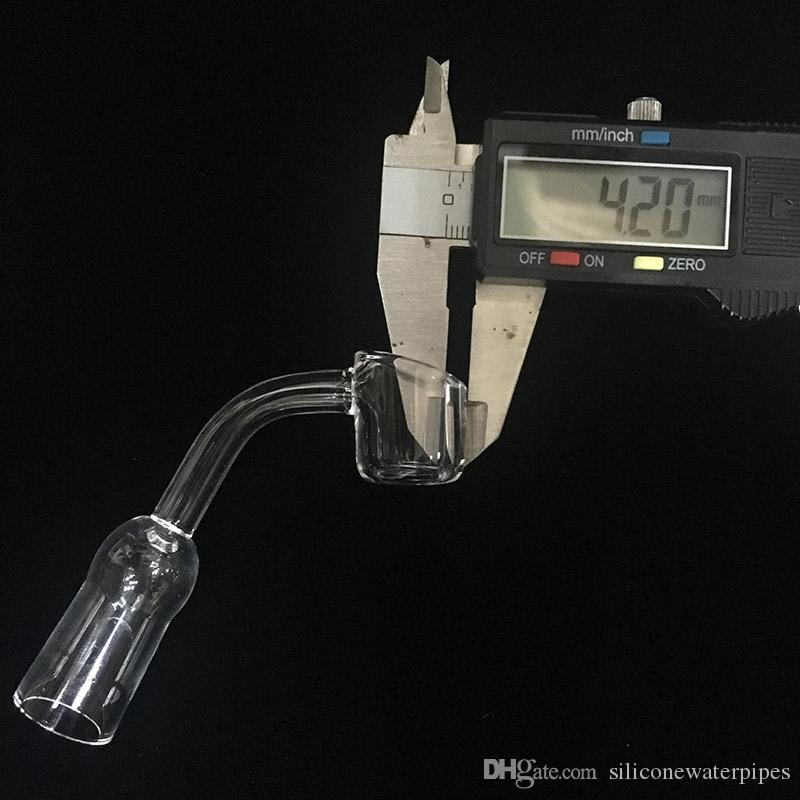 Реальный Кварцевый Ногтей Banger Женский 14 мм Совместное 45 Градусов 4 мм Толстый XL Термальный Кварцевый Гвоздь Для Bongs Водопроводных труб