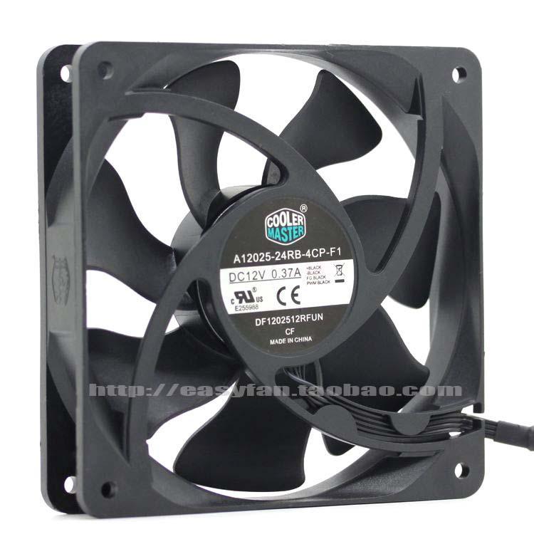 Оригинальный Cooler Master A12025-20RB-4CP-F1 DF1202512RFHN DF1202512RFUN 12 В 0.32A 0.37A шасси 12 см четырехпроводной терморегулятор ШИМ coo