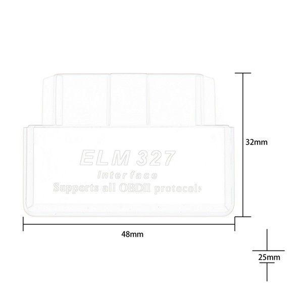 SUPER MINI ELM327 Bluetooth OBD2 V1.5 Schwarz Smart Auto Diagnoseschnittstelle ELM 327 Drahtloses Scan-Tool