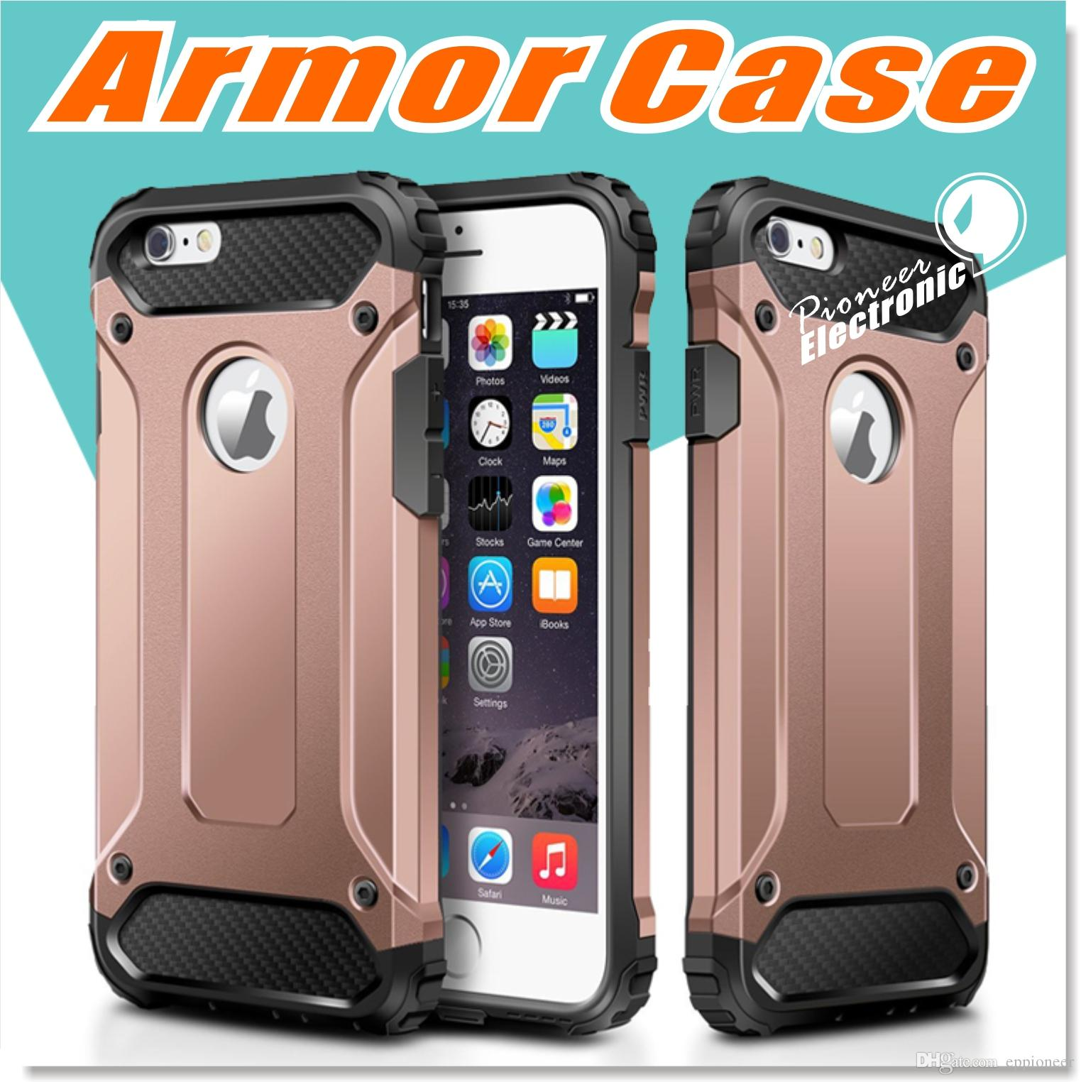 For S9 Iphone X 8 7 Plus Case Hybrid Dual Layer Armor Cases