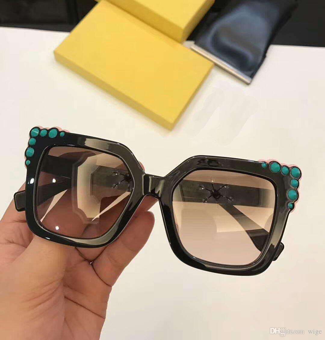 934f4bf3dab Women Designer Cat Eye 0260 S Sunglasses 0260 Black Pink   Brown Gradient  Lenses Fashion Brand Women Sunglasses With Box Reading Glasses Prescription  ...