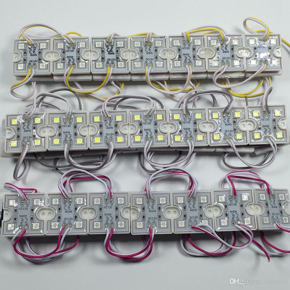 LED SMD 5050 4 LED Modul 12V Wasserdicht Super Bright Square LED-Module Beleuchtung, Weiß, Warmweiß, Rot, Grün, Blau, Gelb, RGB
