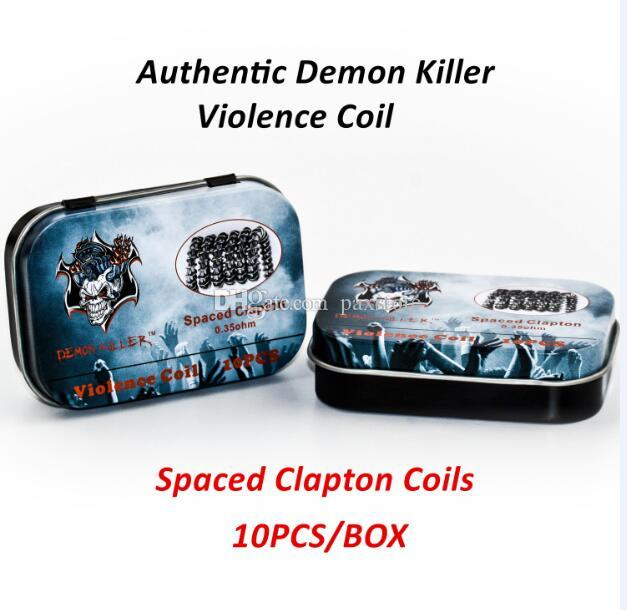 Authentic Demon Killer Violence Coil Prebuilt Framed Clapton Alien Clapception Coil Spaced Clapton Tsuka Coil Tri-twisted Coils DHL Free