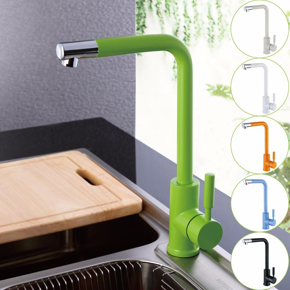 2019 Wholesale Kitchen Sink Faucet With Black White Green Orange
