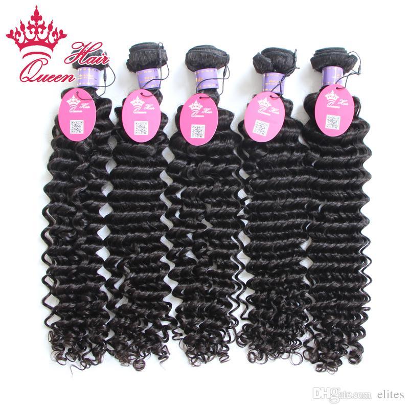 Queen Hair Products 8-30 3 stks / partij met gemengde lengtes Deep Curl Top Quality Maagd Haar Maleisische Extensions Weeft DHL Shipping