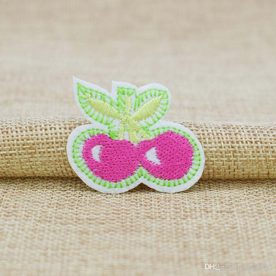 Розовые вишни вышивка патчи для одежды железа патч для одежды аппликация швейные аксессуары значок наклейки на ткани железа на патч