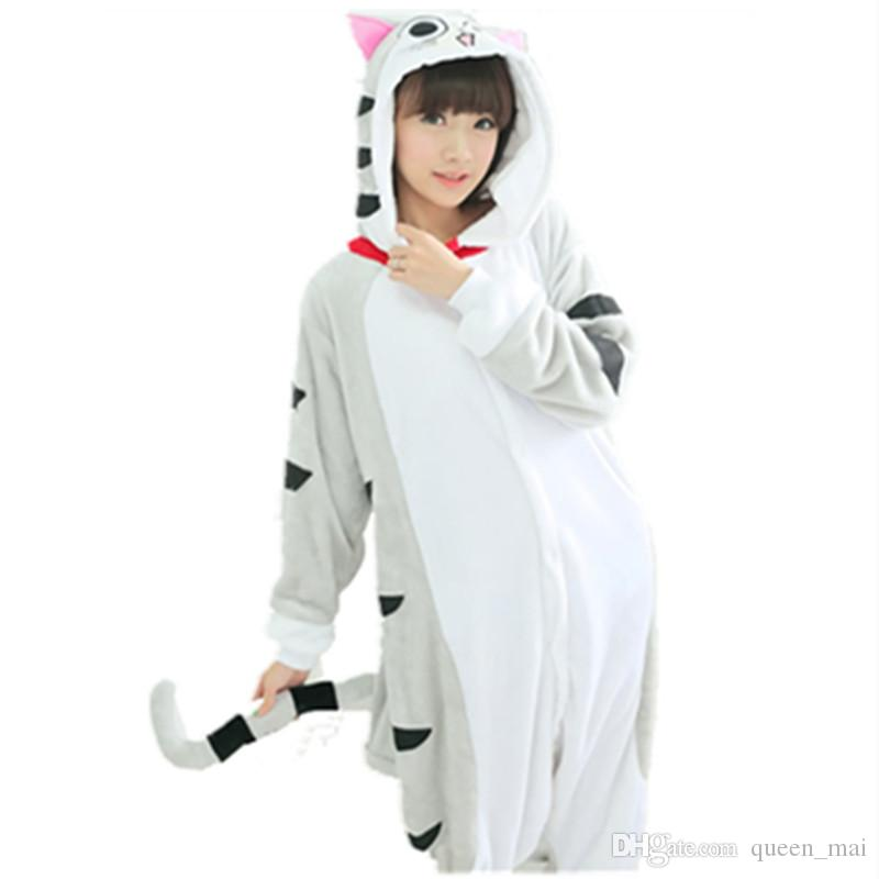 Flannel Chi S Sweet Home Cheese Cat Onesie Cosplay Costume Adult Carnival  Party Dresses Sleepwear Sleepsuit Cartoon Anime Tabby Cat Jumpsuit Team  Costumes ... 2b91ae216679c