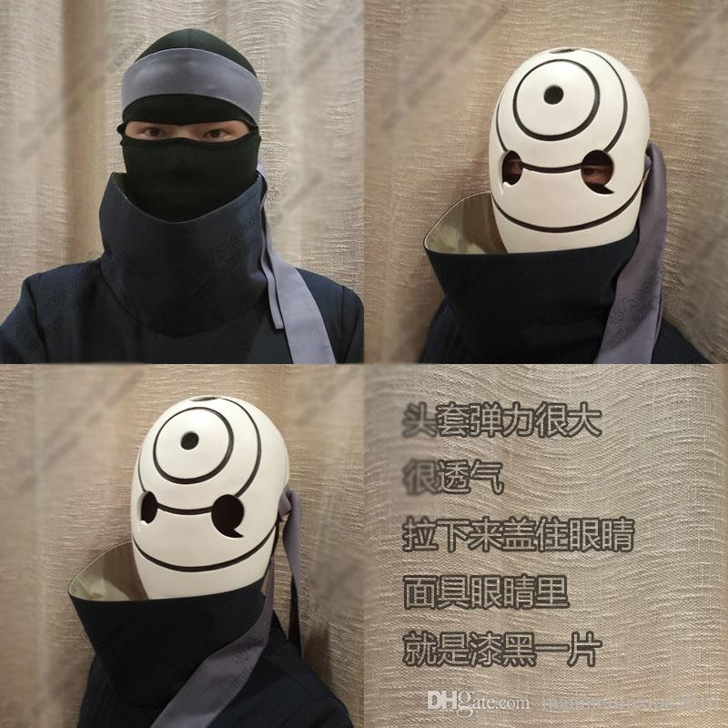 Anime Costume NARUTO Akatsuki Ninja Tobi Obito Madara Uchiha Obito Cosplay Costume With Helmet