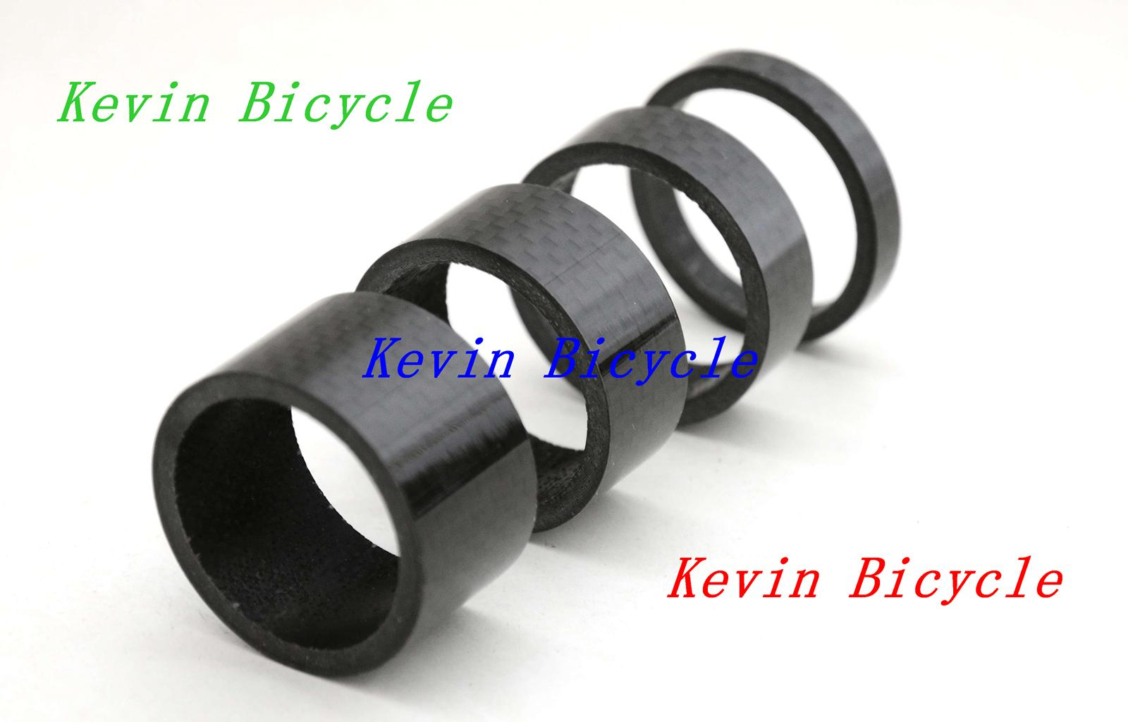Full carbon bike headset spacer, ultra light, 4 pcs a set Fits 1-1/8