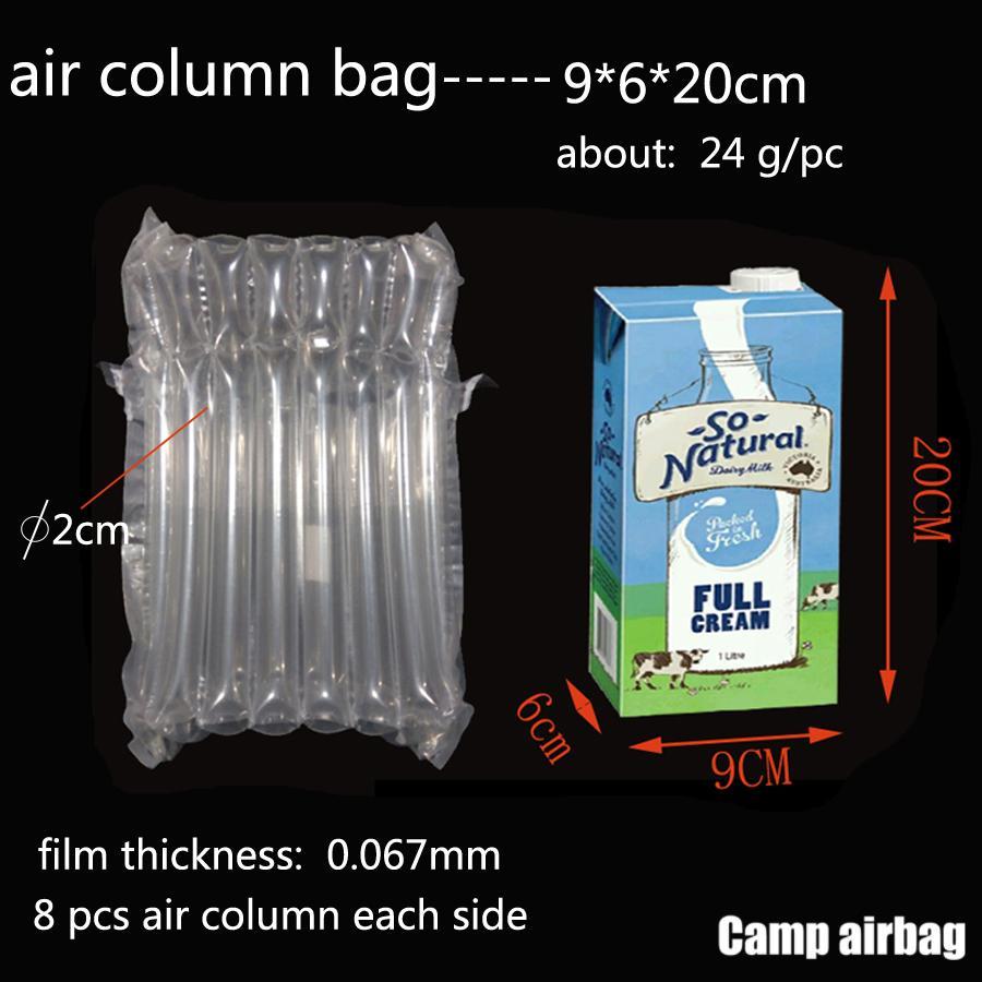 Надувная Воздушная пневмооболочка 9 * 6 * 20см на воздушной подушка колонки 3 см Buffer мешок защиты продукта хрупких товаров